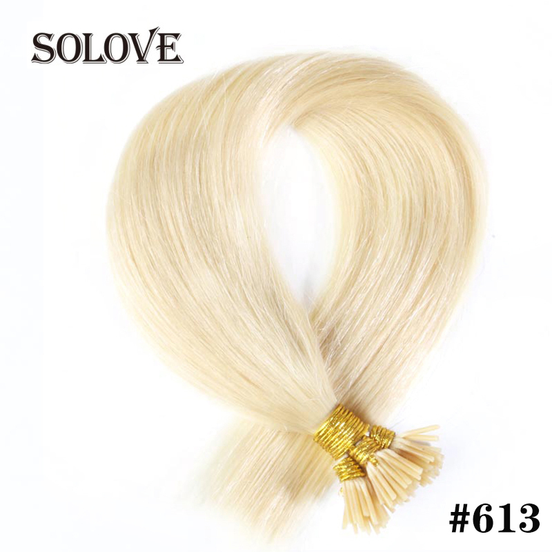 Straight Machine Made Remy Hair Extensions 0.8g/pcs 50pcs/ Set Straight Keratin I Tip Human Hair
