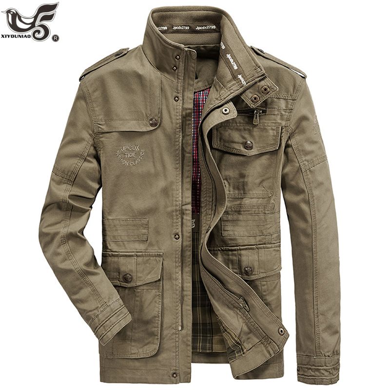 New Brand Military Jacket Men 100% Cotton Pilot Jacket Coat Men's Bomber Jackets Cargo Flight Jacket Male Clothing