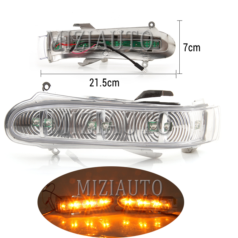 MIZIAUTO 1pcs Car Turn Signal Lights Lamp Auto Rearview Mirrors Indicators for <font><b>Benz</b></font> S Class <font><b>W220</b></font> S320 S350 <font><b>S500</b></font> S600 1999-2002 image