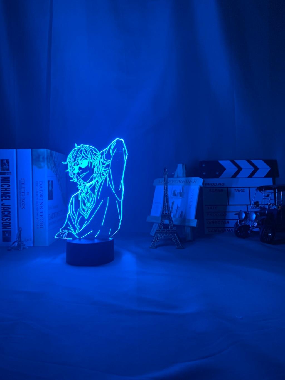Acrylique 3d lampe BL Anime Yarichin chienne Club Yuri Ayato lumière pour lit chambre décor veilleuse Yarichin chienne Club lampe Yuri Ayato 4