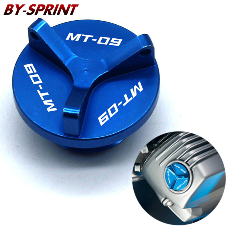 Motorcycle CNC Engine Oil Filler Plug Cap Cover Screw For <font><b>MT</b></font>-09 <font><b>Tracer</b></font> FJ09 FZ09 2013-2019 <font><b>MT</b></font>-<font><b>07</b></font> FZ07 2014-2020 image