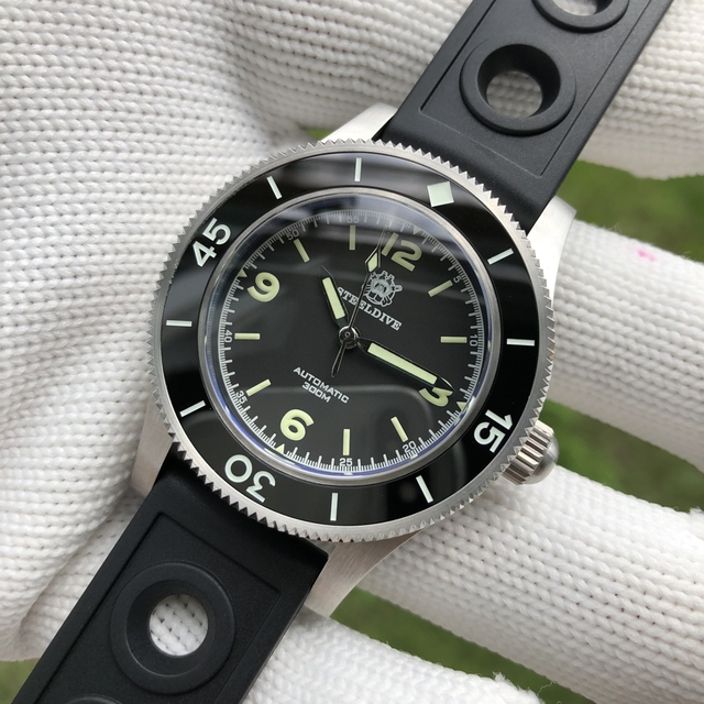STEELDIVE 1952 Worlds First Dive Watch Fifty Fathoms Steel Diving Watch 300m Mens Automatic Mechanical Watches Sapphire Luxury
