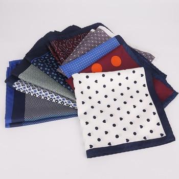 Linbaiway Men's Suits Handkerchief Print Pocket Towel Fashion Scarf Chest Towel Pocket Square Women's Handkerchief Custom Logo pocket handkerchief ortiz reed pocket handkerchief
