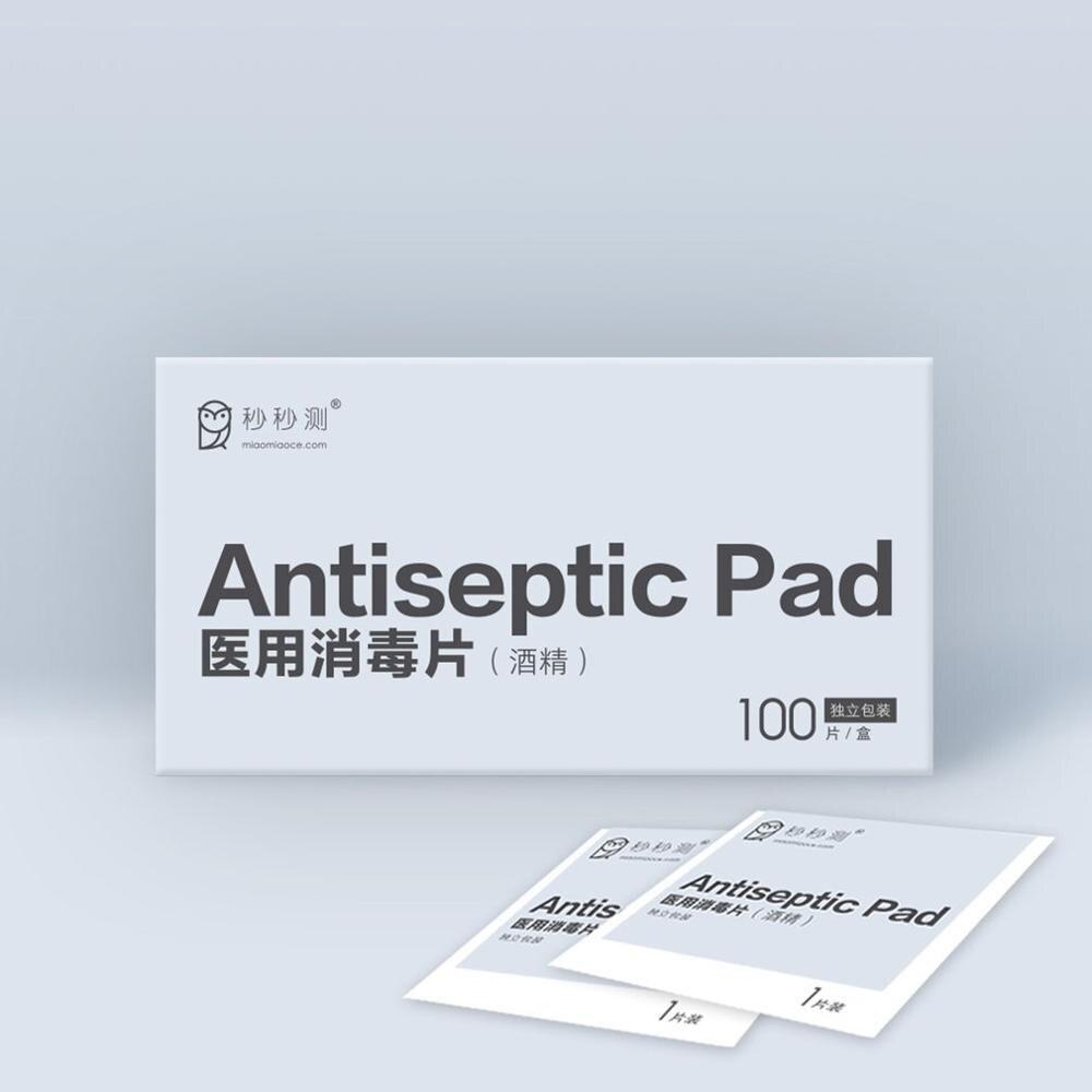 100Pcs 75% Alcohol Cotton Sheet Universal Alcohol Disinfection Disposable Sterilization Cotton Swabs