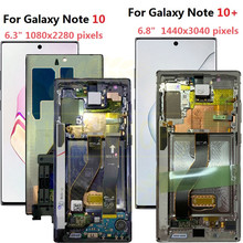 For Samsung Galaxy Note 10 Lcd N970F N9700 with Frame Display Touch Screen Digitizer For Samsung note10+ Note 10 plus LCD N975