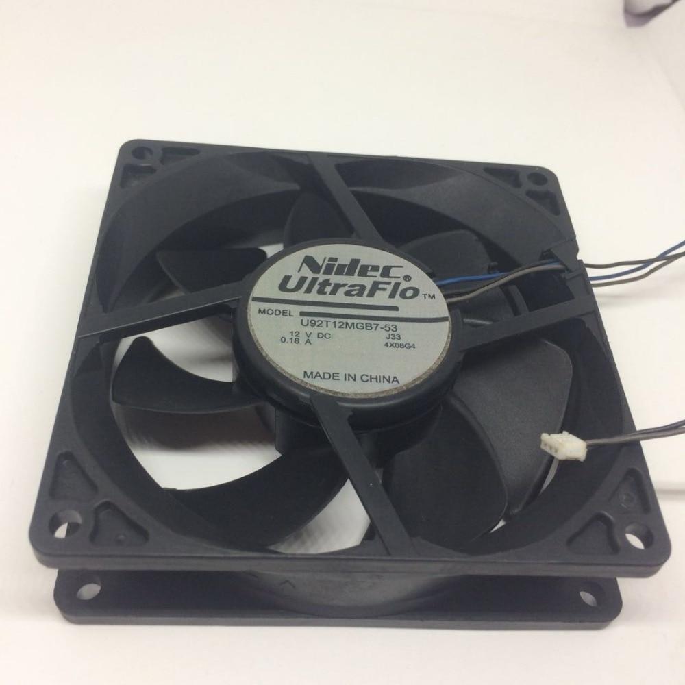 NIDEC 9cm U92T12MGB7-53 9225 12V 0.18A 3Wires Cooling Fan Same KDE1209PTV3