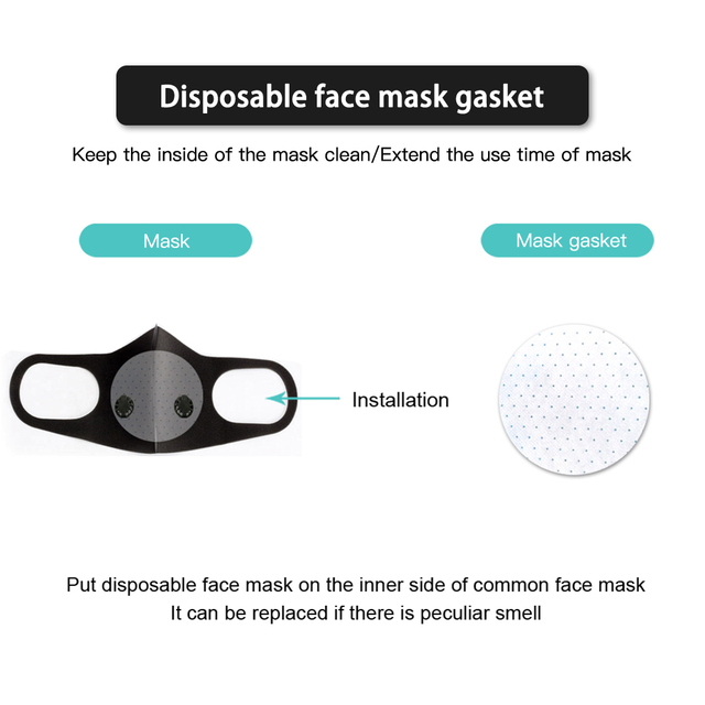 Reusable Face Mask With  Breath Valve Anti-flu Dust Anti Haze allergy Mouth-muffle Mask PM2.5 Single and double Air Valve 3