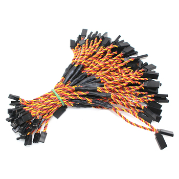 100Pcs 30cm Y Type 60 Core Filaments Twisted Pair Wire Extension Leads For Airplane Model Steering Serve Motor Brown-Red-Orange