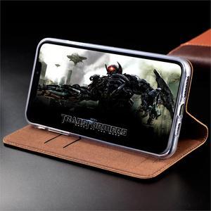 Image 4 - Echt Leer Grid Case Voor Xiao Mi Mi 5 5 S 5X6 6X8 9 9T Cc9 Cc9e se Note10 Pro Plus A1 A2 A3 Lite Wallet Flip Cover Capa