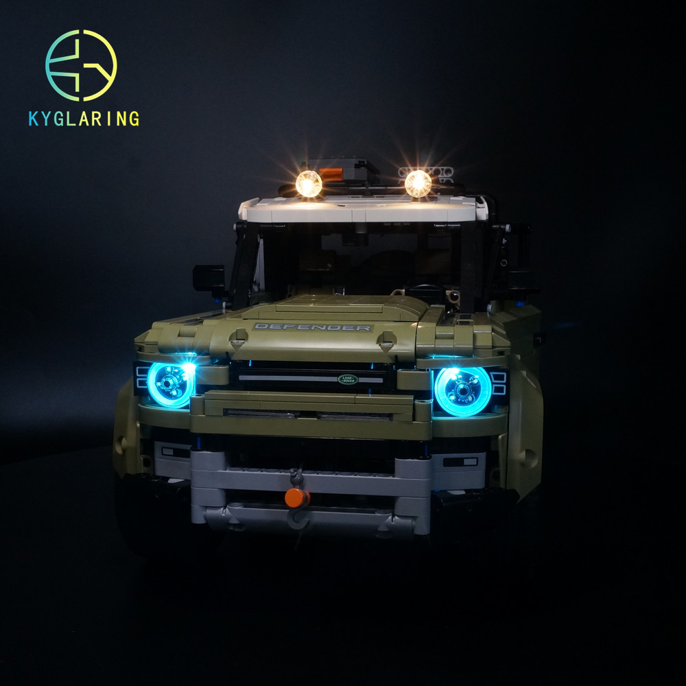 Kyglairng Led Light Kit For LEGO 42110 Technic Series Defender Model Building Blocks (only Light Included)
