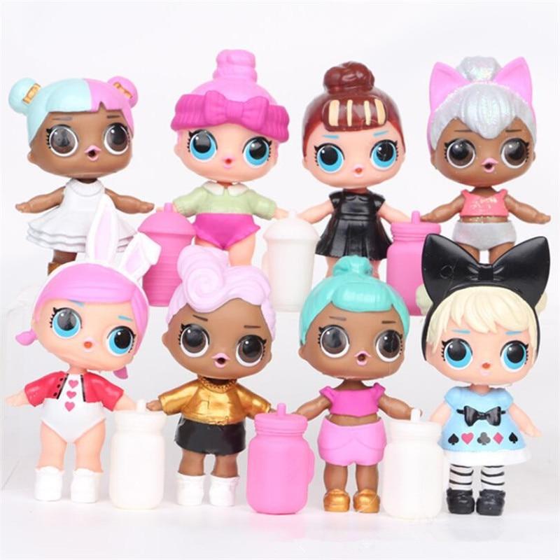 6/8/12 Pcs lol surprise lol dolls toys for girls action figure pvc model kids toys set children birthday gifts