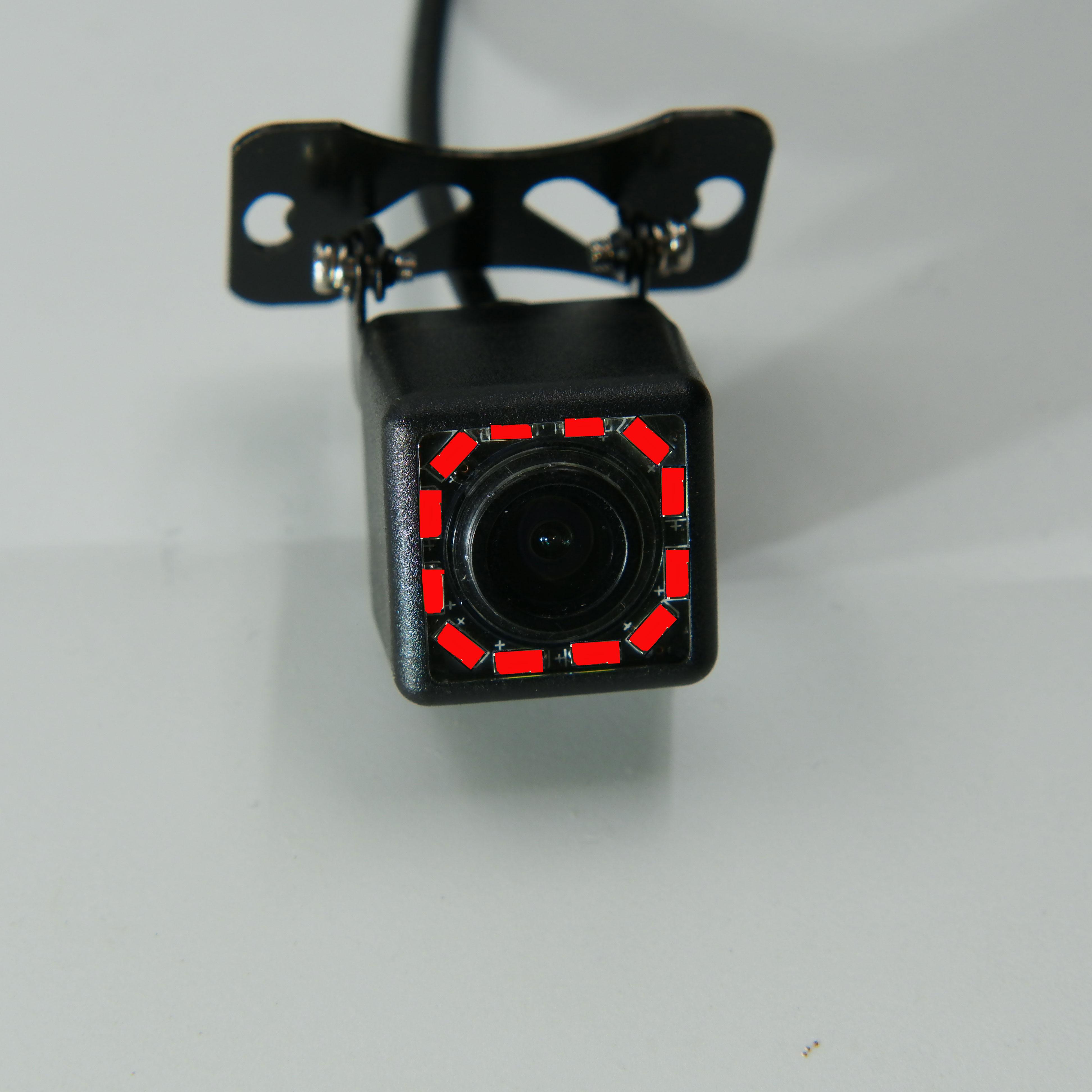 BYNCG Автомобильная камера заднего вида Универсальная 12 Светодиодный ночного видения дублирующая для парковки заднего вида камера Водонепроницаемая 170 широкоугольная HD цветное изображение - Название цвета: Белый