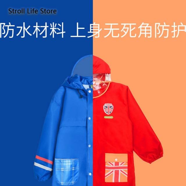 Waterproof Raincoat Kids Cute Red Long Rain Poncho Children Rain Coat Jacket Hiking Thickening Rainwear Capa De Chuva Gift Ideas 1