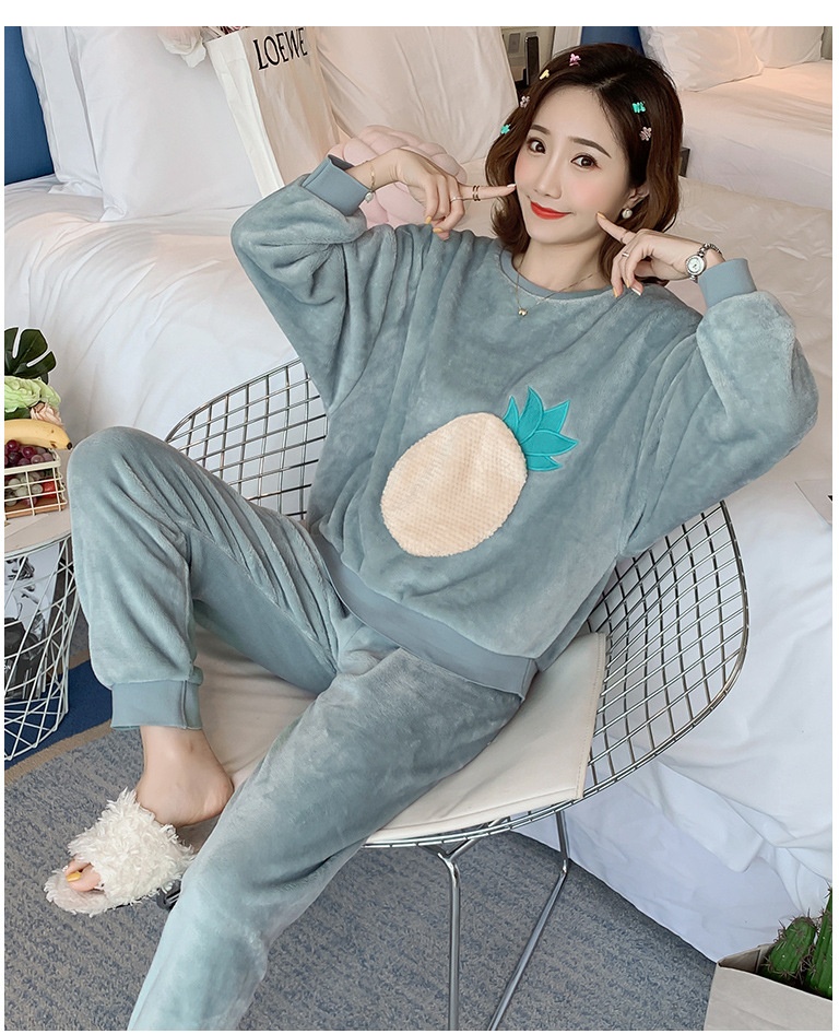 Betyline 2019 New Winter Pajamas For Women Sleepwear Warm Flannel Long Sleeves Pajamas Cute Animal Homewear Thick Homewear 130