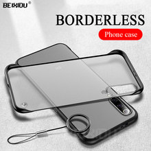 Mi 9 case For Xiaomi Pro 5G matte Frameless phone cover for SE CC9 Rimless shockproof, Free ring lanyard