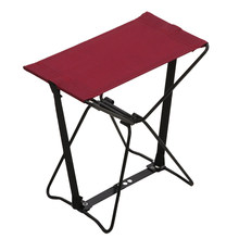 Fishing Camping Hiking Portable Stool BBQ Lazy Gardening Outdoor Beach Stainless Steel Travel Seat Folding Chair Ultralight(China)