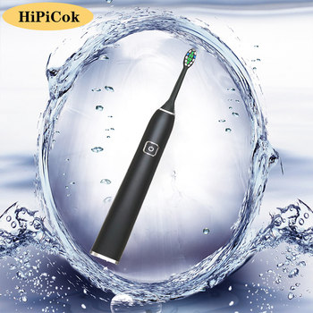 HiPiCok Sonic Electric Tooth Brushes USB Rechargable Waterproof Adult Ultrasonic Automatic Electric ToothBrush Replacement Heads umbracare ultrasonic sonic electric toothbrush usb charge rechargeable tooth brushes with replacement heads timer waterproof