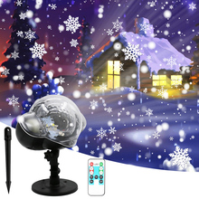 2-8 Timing Set Christmas Snowflake LED Projector Lights Festival Holiday Home Party Decor Night Lamp Snow Projector Light Decor