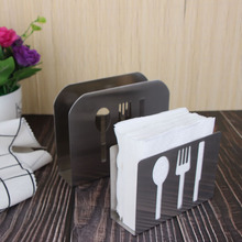Stainless Steel Paper Towel Rack Restaurant Paper Towel Holder Creative Simple Vertical Napkin Clip Hotel Napkin Seat novel stainless steel triangular paper towel holder rack restaurant vertical napkin clip dining table decoration