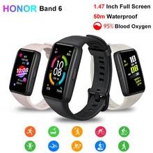 Smart-Bracelet Honor Band Monitor Blood Oxygen-Heart-Rate Fitness 6 Waterproof AMOLED