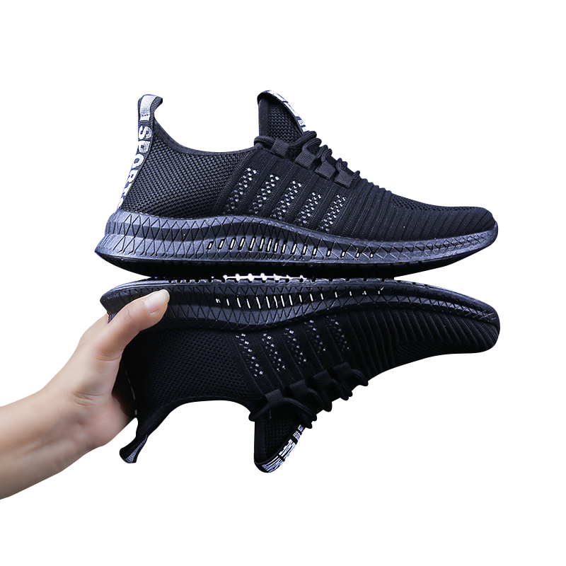 2019 Men Shoes Sneakers Breathable Air Mesh Lace-Up  Summer Non-leather Casual Lightweight Sock
