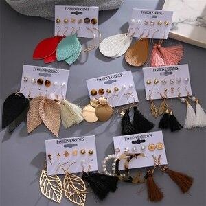 VKME earrings for women earrings set brincos Fashion Jewelry CRYSTAL Acrylic tassel Drop Earrings 2020 new boho Jewelry gift