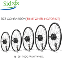 16 700C Brushless Hub Motor Electric Bicycle Conversion Kit 36V 350W Spoke Bicicleta E bike Front Wheel Motor Rim