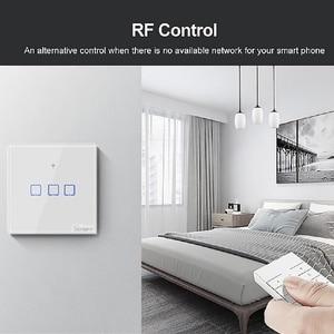 Image 3 - Sonoff t2 ue/eua/reino unido tx interruptor de parede luz inteligente painel soquete toque/wifi/433mhz/eweilink/rf/app controle remoto sem fio google casa