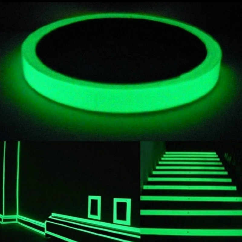 ส่องสว่างเรืองแสงสติ๊กเกอร์ติดผนังสติกเกอร์ห้องนั่งเล่นห้องนอนเป็นมิตรกับสิ่งแวดล้อมตกแต่งบ้านDecal Glow In The Dark DIYสติกเกอร์แถบ