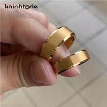 Золото Вольфрам карбида заниматься Для мужчин t кольца для Для мужчин Для женщин Для мужчин обручальные кольца матовое покрытие скошенными ...