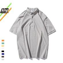 100% Cotton 2021 New polo t shirt Mens Short Sleeve Polos Shirts Casual  t-shirt Lapel Clothes Fashion Male Slim Tops