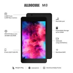 Image 3 - ALLDOCUBE M8 أندرويد اللوحي 8 بوصة 4G مكالمة هاتفية اللوحي 1920*1200 3GB RAM 32GB ROM MT6797X هيليو X27 عشاري النواة المزدوج سيم نظام تحديد المواقع OTG