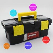 Портативный S/M/L Размер Пластиковый Аппаратный набор инструментов для дома Многофункциональный ремонтный ящик для инструментов автомобильный ящик для хранения Анти-осенняя коробка