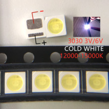 100 قطعة LED الخلفية عالية الطاقة LED 1.8 واط 3030 6 فولت 3 فولت كول الأبيض 150 187LM PT30W45 V1 TV تطبيق 3030 مصلحة الارصاد الجوية EVERLIGHT