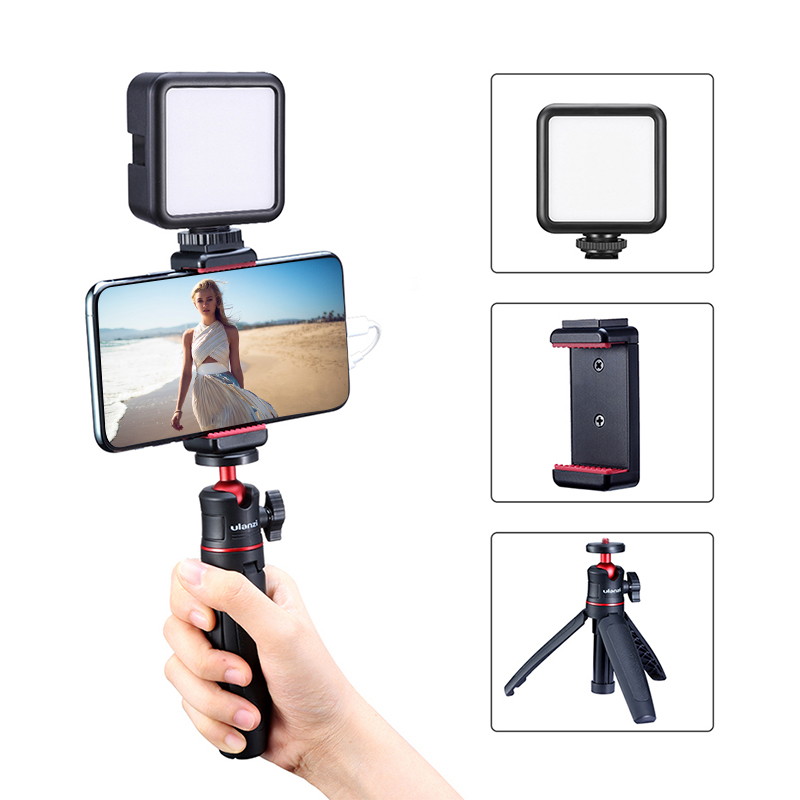 """Foldable Mini Tripod Mount 1/4"""" Tripod Monopod Hand Grip Universal for DSLR Android iPhone Smartphone Action Camera Camcorder Camera DSLR Camera's Mobile Accessories NoteBook & MacBook Stand Phone Amenities"""