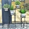 Металлическая полка 4 в 1  подставка для растений  декор для сада  OP3341