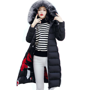 Image 2 - Com capuz ambos os lados usam casacos longos feminino 2020 casual grosso com pele de algodão acolchoado parkas inverno outwear oversize jaqueta feminina