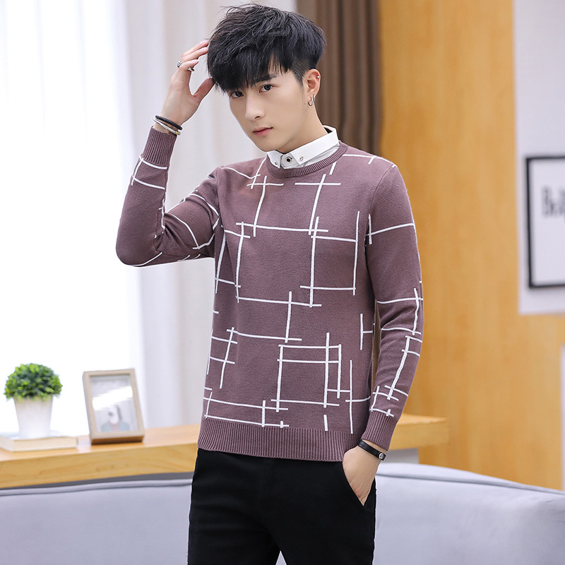 Long Sleeve Mens Sweaters Winter Black Grey Navy Blue Casual Turn-down Collar Pullovers Solid New Fashion Men Sweater