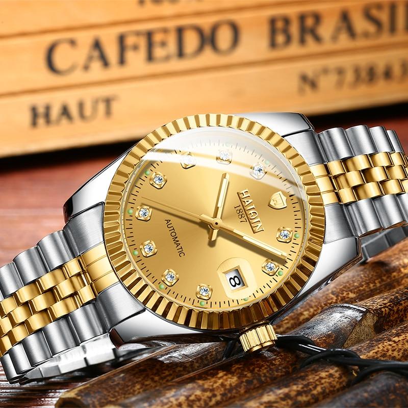 2020 HAIQIN Women's Watches Top Brand Luxury Gold Mechanical Women Watch Clock Ladies Rolexable WristWatch Lady Relogio Feminino
