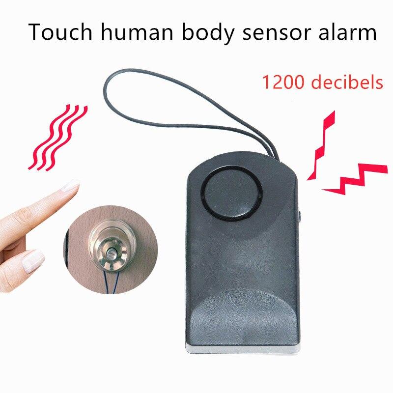 Дверной датчик окна сигнализация беспроводная безопасность отель независимый безопасный детектор сирена портативная ручка сенсорная 120 д...