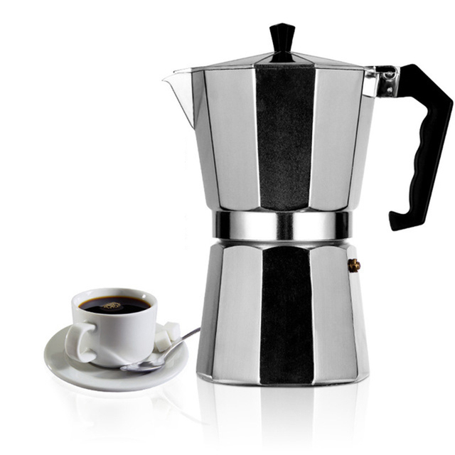 Italian Moka Espresso Coffeeware Mocha Latte Aluminum Coffee Maker Percolator Pot 100/200/300/450/600ML Stovetop Coffee Machine 1