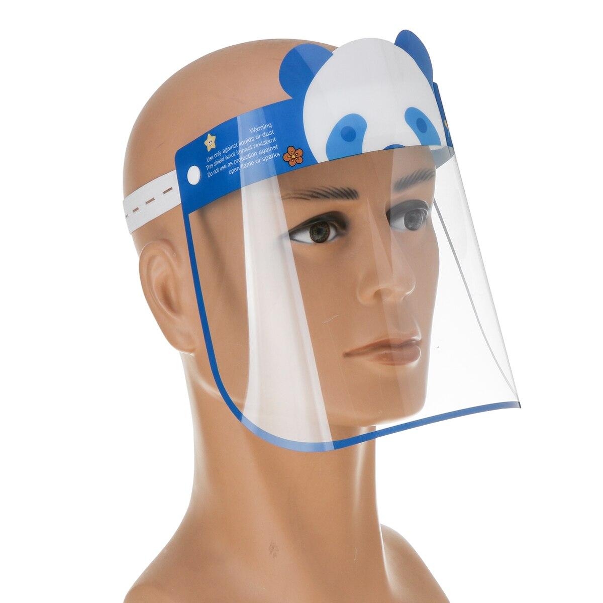5PCS Kids Full Face Shield Mask Protective Visor Face Mask Plastic Anti Splash Anti saliva Dust-proof Full Face Cover 4