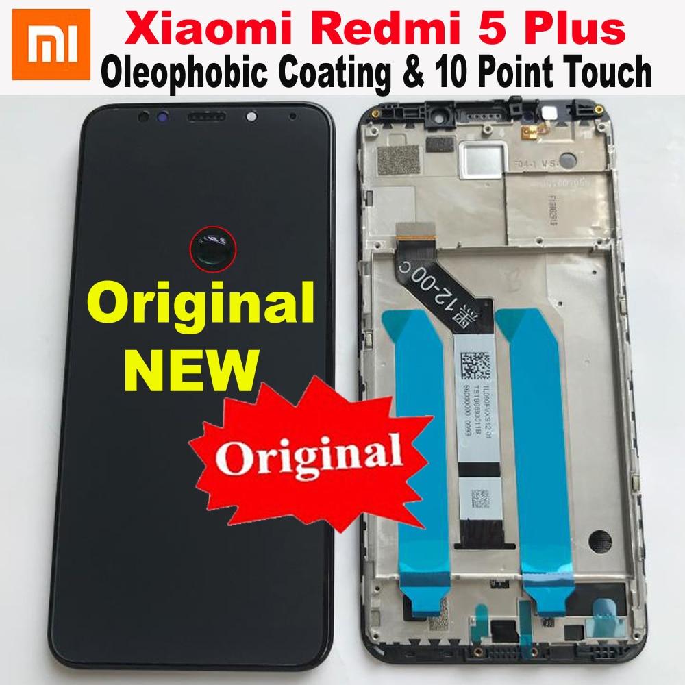 Original Best Xiaomi Redmi 5 Plus IPS LCD Display 10 Point Touch Screen Digitizer Assembly Sensor + Frame Redmi5 Plus MEG7 Glass(China)