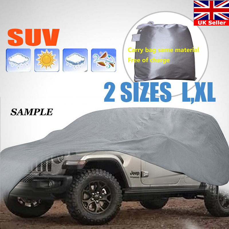 Car Cover L XL Size SUV Full Car Covers Snow Ice Sun Rain Resistant Protection Waterproof Dustproof Outdoor Indoor dfdf