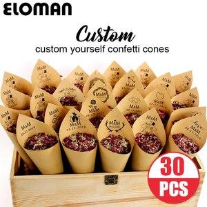 Image 1 - Conos de Confeti Boda Personalizada ELOMAN Retro Kraft Pétalo Dulces Hacer Natural para la Boda y la Decoración del Partido