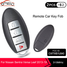 Keyecu Nieuwe Vervanging Prox Smart Fob Afstandsbediening Autosleutel 4 Knop 315Mhz ID46 Chip Voor Nissan Sentra Versa Blad 2013-2019 CWTWB1U840