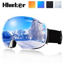 Лыжные очки UV400 защита сноуборд очки Анти-туман большой Лыжная маска очки снег снегоход Мужчины Женщины Катание на лыжах Спорт на открытом воздухе