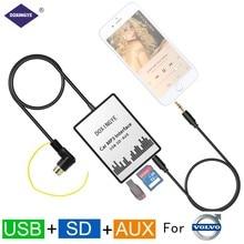 DOXINGYE Car USB SD AUX CD Changer Adapter Digital Music Car Mp3 Converter For Volvo HU-series C70 S40/60/80 V70 Interface