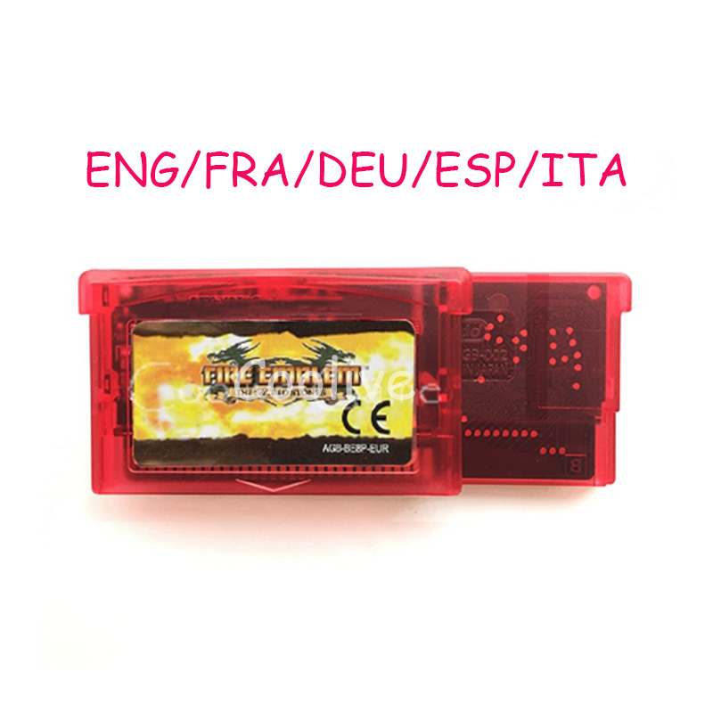 ENG FRA DEU ESP ITA Language Fire Emblem The Sacred Stones Video Game Memory Cartridge Card for 32 Bit Console Accessories image