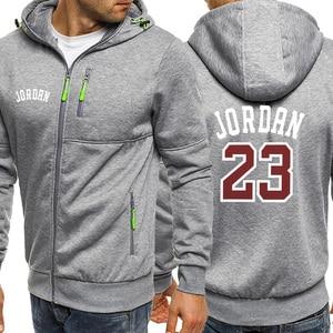 Image 3 - Jordan 23 Print Mens Hoodies Hot Sale Autumn Jacket Zipper Sweatshirt Hip Hop Fashion Streetwear Fitness Sport Outdoor Tracksuit